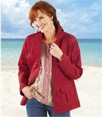 Women's Red Safari Jacket preview1