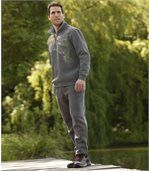 Men's Anthracite Grey Brushed Fleece Joggers preview2