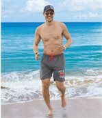 Men's Grey Swim Shorts - Pacific Surf  preview1