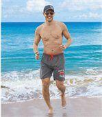 Men's Grey Swim Shorts - Pacific Surf  preview1