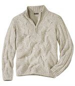 Troyer-Pullover mit Zopfmuster preview2