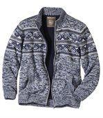 Nordycki sweter z trykotu i polaru preview2