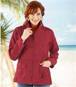 Women's Red Safari Jacket preview2