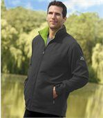 Men's Grey Microfibre and Fleece Sportswear Jacket preview1