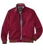 Men's Burgundy Twill Jacket