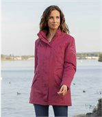Women's Pink Microtech Parka preview3