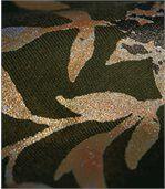 T-shirt met goudbruine plantenprint preview3
