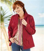 Women's Red Safari Jacket preview3