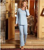 Gletscherblauer Pyjama preview1