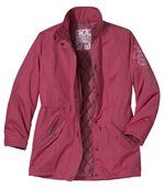 Malinová bunda zmicrotech vlákna
