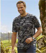 Set van 2 camouflage T-shirts