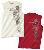 2er-Pack Tanktops South Travel