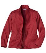 Women's Red Safari Jacket preview4