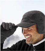 Fleecová kšiltovka do velkých mrazů