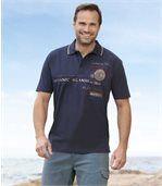 Men's Oceanic Islands Short-Sleeved PoloShirt - Navy