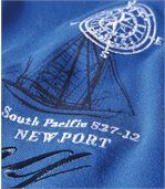 Men's Blue Yacht Club Polo Shirt