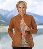 Modische Jacke aus Kunstleder preview1