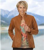 Women's Honey Faux Leather Jacket preview1