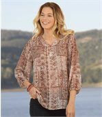 Women's Bohemian Style Muslin Blouse preview1