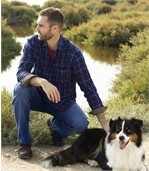 Men's Blue Checked Flannel Shirt preview1