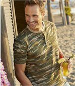 Men's Camouflage Print T-Shirt preview1