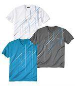 Súprava 3 tričiek Sport X-Trem