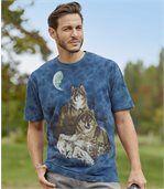 Men's Blue Tie-Dye T-Shirt