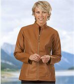 Women's Honey Faux Leather Jacket preview2