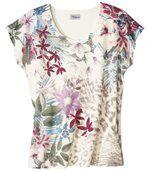 Tričko s tropickým motívom