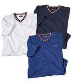 Set van 3 Cape Code T-shirts met V-hals preview1