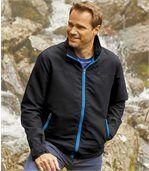 Men's Black Fleece-Lined Windbreaker