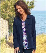 Women's Navy Summer Safari Jacket
