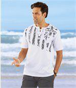 T-Shirt mit Schnürung und Streifenmotiv preview1