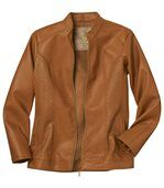 Women's Honey Faux Leather Jacket preview3