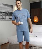Kurzer Schlafanzug mit maritimem Motiv preview2