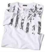 T-Shirt mit Schnürung und Streifenmotiv preview2