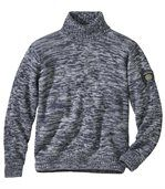 Melierter Strick-Pullover Winter mit Rollkragen preview2
