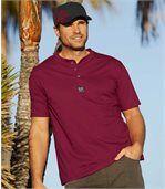 Zestaw 3 t-shirtów z dekoltem zapinanym na guziki preview2