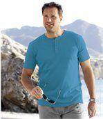 3er-Pack T-Shirts mit Henley-Kragen und Brusttasch preview4
