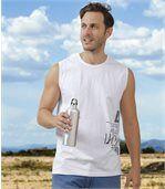 Set van 2 sportieve mouwloze T-shirts