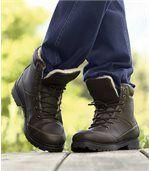 Pánske vysoké topánky shrejivou podšívkou