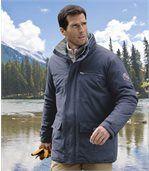 Men's Navy Blue All-Terrain Parka Coat