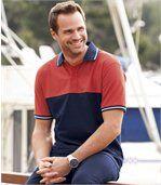 Men's Soleado Polo Shirt - Navy Blue Coral preview1
