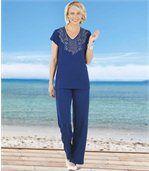 Tunique Manches Courtes Femme Bleu Marine d'Eté preview1