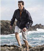 Men's Dark Grey Water-Repellent Windbreaker preview2