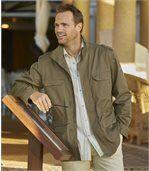 Men's Khaki Multi-Pocket Safari Jacket
