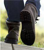 Zimní vysoké boty zateplené umělým beránkem
