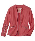 Women's Coral Jacket with Embroidery