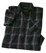 Men's Black Checked Stretch Shirt preview2