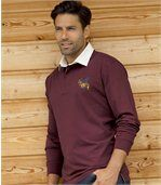 Men's Burgundy Polo Shirt - Casual Chic preview1